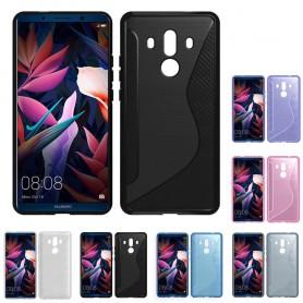 S Line silikon skal Huawei Mate 10 Pro mobilskal skydd