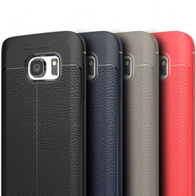 Läder mönstrat TPU skal Samsung Galaxy S7 mobilskal caseonline