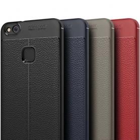 Läder mönstrat TPU skal Huawei P10 Lite WAS-LX1 mobilskal caseonline