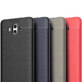 Läder mönstrat TPU skal Huawei Mate 10 mobilskal silikon