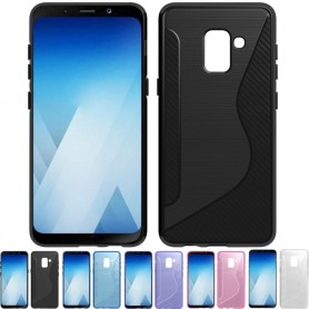 S Line silikon skal Samsung Galaxy A8 Plus 2018 SM-A730F tpu mobilskal caseonline