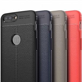 Läder mönstrat TPU skal OnePlus 5T mobilskal skydd