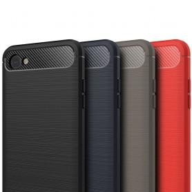 Borstat silikon TPU skal LG Q6 mobilskal skydd caseonline