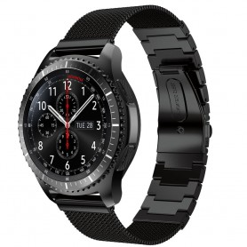Milanese RSF stål svart Samsung Gear S3 Frontier - S3 Classic