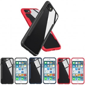 TPU Bumper Glass Case Apple iPhone 7 baksida härdat glas mobilskal