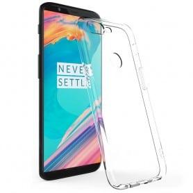 OnePlus 5T Silikon skal Transparent mobilskal