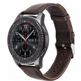 Läder Armband (brun) Samsung Gear S3 Frontier - Classic brun