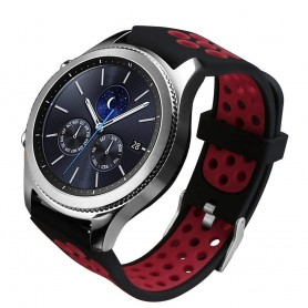 Sport Armband Hole Samsung Gear S3 Svart-Röd ventilerat klockrem