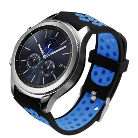 Sport Armband Hole Samsung Gear S3 Svart-Blå klockarmband caseonline