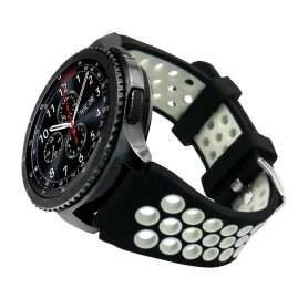 Sport Armband Hole Samsung Gear S3 Svart-Vit klockarmband caseonline