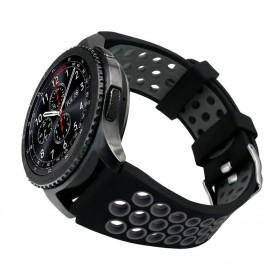 Sport Armband Hole Samsung Gear S3 Svart-Grå klockarmband tillbehör caseonline