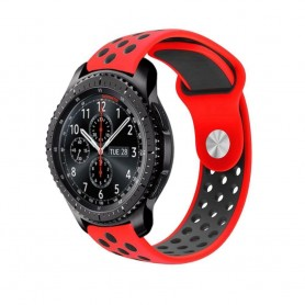 EBN Sport Armband Samsung Gear S3 Röd-Svart knapplås hål