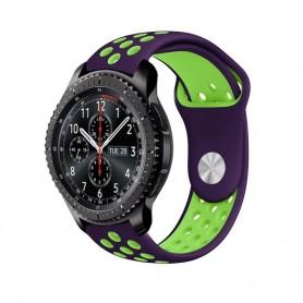EBN Sport Armband Samsung Gear S3 Lila-Grön klockarmband