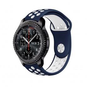 EBN Sport Armband Samsung Gear S3 blå-vit