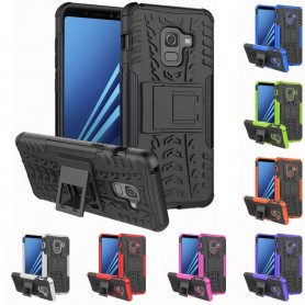 Stöttåligt skal med ställ Samsung Galaxy A8 Plus 2018 silikon tpu 2i1 mobilskal