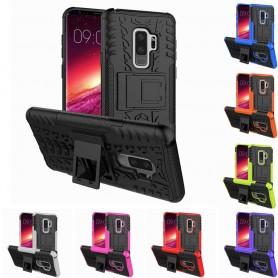 Stöttåligt skal med ställ Samsung Galaxy S9 Plus mobilskal tpu 2i1