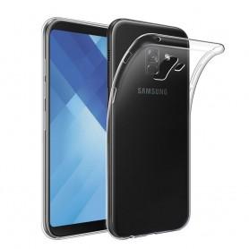 Samsung Galaxy A8 Plus 2018 Silikon skal Transparent mobilskal