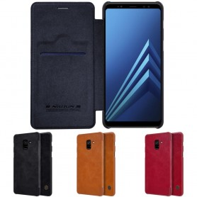 Nillkin Qin FlipCover Samsung Galaxy A8 2018 mobilskal