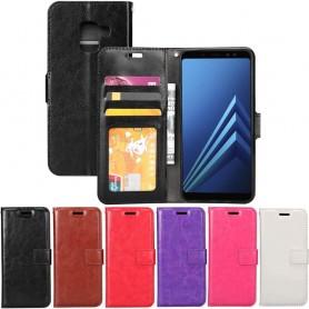 Mobilplånbok 3-kort Samsung Galaxy A8 Plus 2018 SM-A730F fodral mobilskal