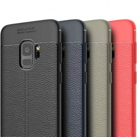 Läder mönstrat TPU skal Samsung Galaxy S9 (SM-G960F)
