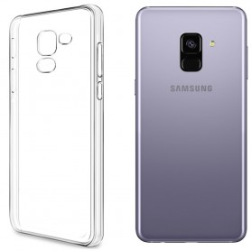 Clear Hard Case Samsung Galaxy A8 2018 mobilskal