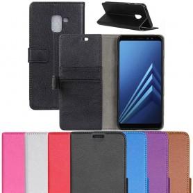 Mobilplånbok 2-kort Samsung Galaxy A8 Plus 2018 SM-A730F mobilskal