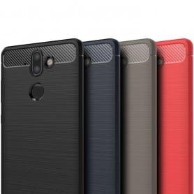 Borstat silikon TPU skal Nokia 9 mobilskal skydd caseonline