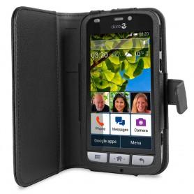 Doro Liberto 820 Book Case - Svart mobilskal fodral skydd väska
