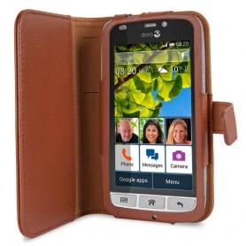 Doro Liberto 820 Book Case - Brun mobilskal fodral väska skydd