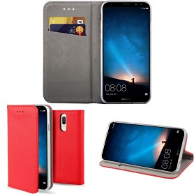 Moozy Smart Magnet FlipCase Huawei Mate 10 Lite - Röd