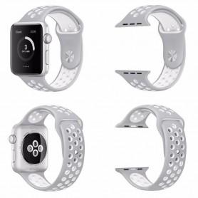Apple Watch Series 42mm Sport Armband Grå-Vit silikon