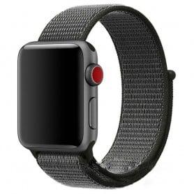 Apple Watch 38mm Nylon Armband Svart/grå klockarmband