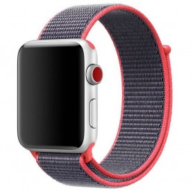 Apple Watch 38mm Nylon Armband Lila/rosa klockarmband