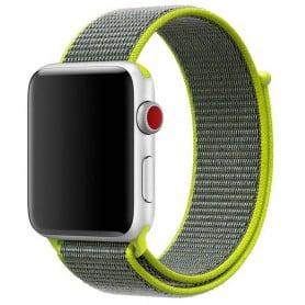 Apple Watch 38mm Klockarmband Nylon Armband Gul/grön