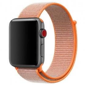 Apple Watch 38mm Nylon Armband med kardborre orange klockarmband