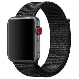 Apple Watch 42mm Nylon Armband Dark Black CaseOnline.se