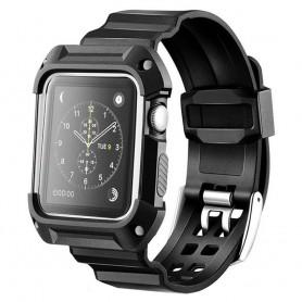 Apple Watch 38mm Armor Case med Armband - Svart/vit