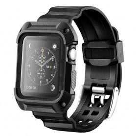 Apple Watch Series 1, 2, 42mm Armor Case med Armband Svart - CaseOnline.se