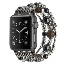 Apple Watch 38mm Crystal Agate Pärlarmband - Grå CaseOnline.se