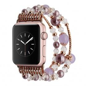 Apple Watch 38mm Crystal Agate Pärlarmband - Lila CaseOnline.se