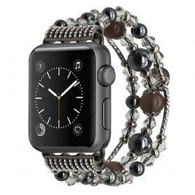 Apple Watch 42mm Crystal Agate Pärlarmband - Grå CaseOnline.se