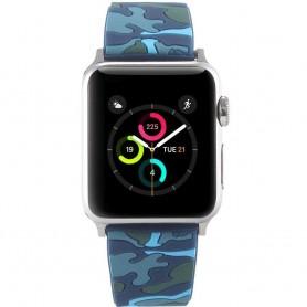 Apple Watch 38mm Camo Armband - Blå