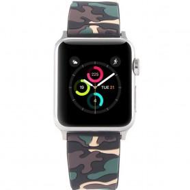 Apple Watch 38mm Camo Silikon Armband - Svart/Beige klockarmband CaseOnline.se