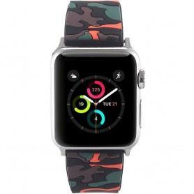 Apple Watch 42mm Camo Silikon Armband - Svart/Orange tillbehör rem klocka