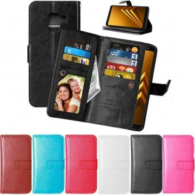 Dubbelflip Flexi Samsung Galaxy A8 Plus 2018 mobilskal fodral väska CaseOnline.se