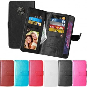 Dubbelflip Flexi Motorola Moto X4 XT1900 mobilskal fodral mobilplanbok