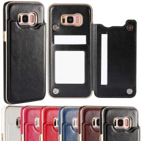 Mobilskal Flipwallet 2-kort Samsung Galaxy S8 mobilplånbok fodral CaseOnline.se