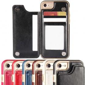 Mobilskal Flipwallet 3-kort Apple iPhone 7 / 8 plånbok skal fodral