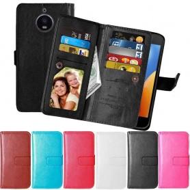 Mobilplånbok Dubbelflip Flexi 9-kort Motorola Moto E4 Plus mobilskal fodral