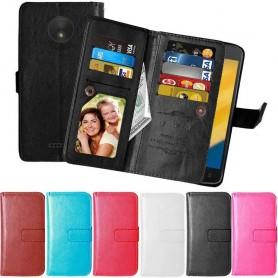 Mobilskal Dubbelflip Flexi mobilplånbok  Motorola Moto C Plus skal fodral